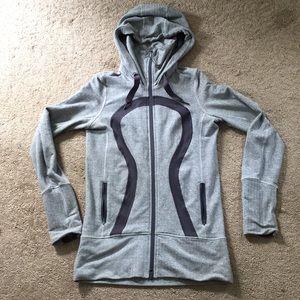 Lululemon in stride hooded zip up